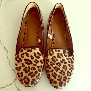 Mossimo Faux Suede Leopard-print loafers